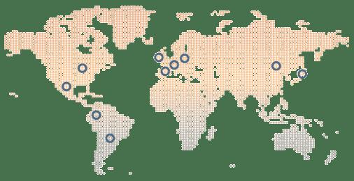 Sistemas OEE - Presencia mundial